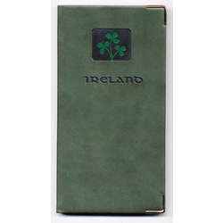 Celtic Pocket Address Book with Shamrock