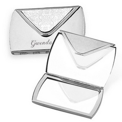 Envelope Shape Purse Mirror in Silver