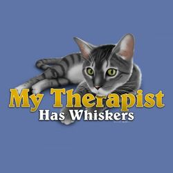 Cat Therapist Ladies T-Shirt