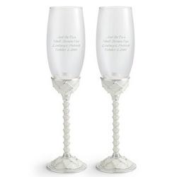 Garden Trellis Champagne Flutes