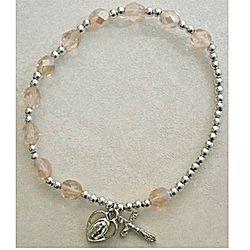 Adult Rose Aurora October Rosary Bracelet