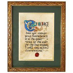 Courage Framed Celtic Print