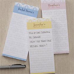 Personalized Magnetic Damask Notepad Set