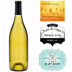 One Bottle of Custom Labeled Bliss Chardonnay