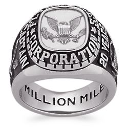 Men's Sterling Silver Personalized Top Traditional Class Ring