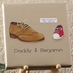 Personalized Just Like You Father and Son Canvas Art