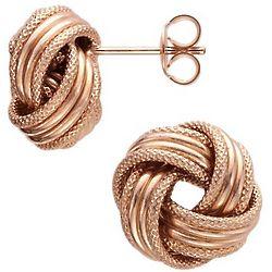 Grande Love Knot Earrings in 14k Rose Gold