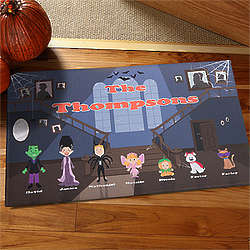 Personalized Haunted House Family Doormat