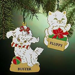 Personalized Kitten or Puppy Ornament