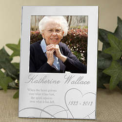 Remembering Personalized Memorial Silver Photo Frame