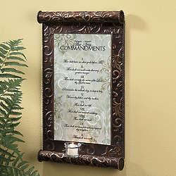 10 Commandments Candle Plaque
