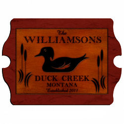 Wood Duck Personalized Vintage Cabin Pub Sign