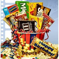 Birthday Rave Review Movie Gift Basket