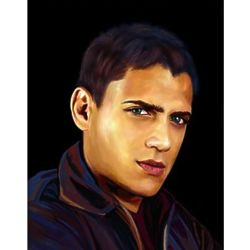Wentworth Miller Oil Painting Giclee Art Print