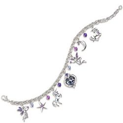 Twilight Enchantment Fantasy Art Charm Bracelet