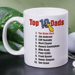 Top Ten Dads Personalized Coffee Mug
