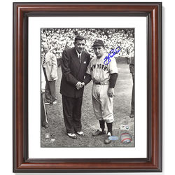 Yogi Berra Signed Framed Photo with Babe Ruth