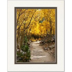 Friend, Family or Spouse Poem Personalized Aspen Path Print