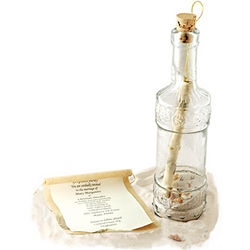 Royal Wedding Glass Message in a Bottle Invitation
