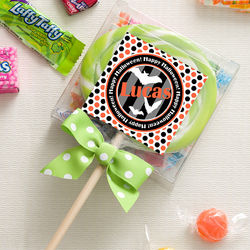 Personalized Halloween Lollipop