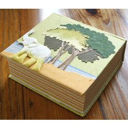 Elephant Poo Paper Notebook Cube