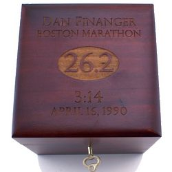 Personalized Marathon Medal Keepsake Box