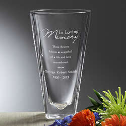 Love Blooms Eternal Personalized Memorial Vase
