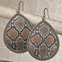 Snake Print Earrings