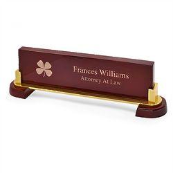 Irish Desktop Walnut Name Bar