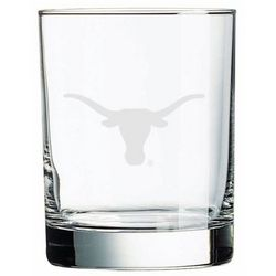 Texas Longhorns Deep Etched Double Old Fashion Glass