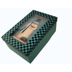 Snowman Green Gift Box