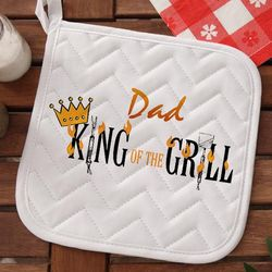 King of The Grill Personalized Crown Potholder