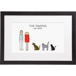 Couple's Personalized Framed Print