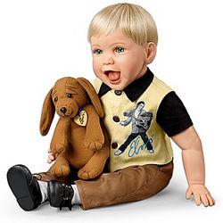 Elvis Inspired Hound Dog Baby Doll