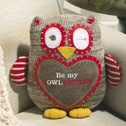 Plush Valentine Owl