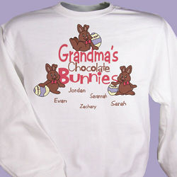 Personalized Chocolate Bunny Easter Sweatshirt