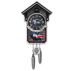 Serve and Protect Police Cuckoo Clock