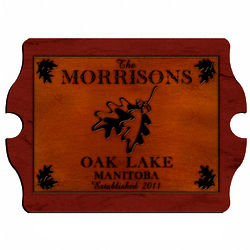 White Oak Personalized Vintage Cabin Pub Sign