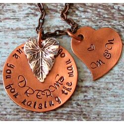 Thank You for Raising the Man/Girl of My Dreams Copper Necklace