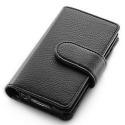 Black Pebble Grain iPhone 5 Wallet