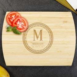 Celtic Circle Personalized Bamboo Cutting Board
