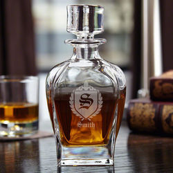 Personalized Draper Whiskey Decanter with Oxford Monogram
