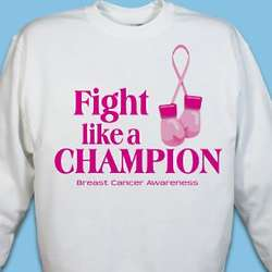 Fight Like a Champion Breast Cancer Awareness Sweatshirt