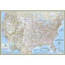 Enlarged U.S. Political Boundary Map