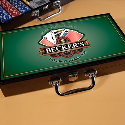 Personalized Texas Hold 'Em Poker Set