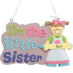 Personalized Little/Big, Brother/Sister Ornament