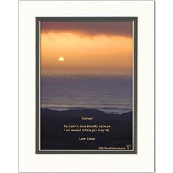 Friend or Family Poem Personalized Ocean Sunset Print