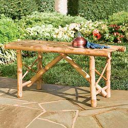 Folding Bamboo Bench