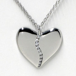 Platinum and Diamond Medium Harmony Heart Necklace