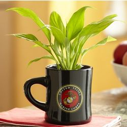 Armed Forces Mug with Peace Lily